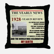 born in 1928 birthday gift Throw Pillow
