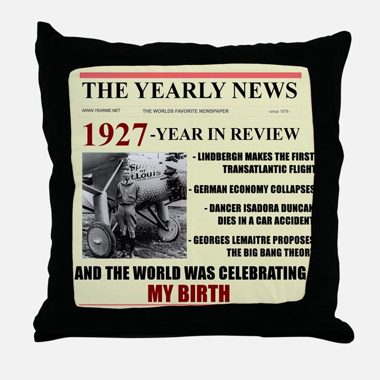 born in 1927 birthday gift Throw Pillow