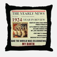 born in 1924 birthday gift Throw Pillow