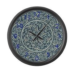 Persian Blue Large Wall Clock
