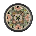 Chinese Blossom Large Wall Clock