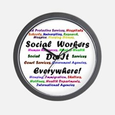 Social Workers are Everywhere Wall Clock