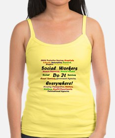 Social Workers are Everywhere Jr.Spaghetti Strap