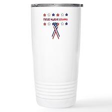 Proud Marine Gramma Ceramic Travel Mug