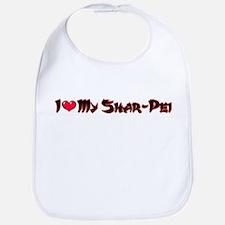 I Love My Shar Pei Bib