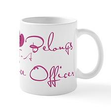 My Heart Blongs to a Police O Mug