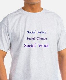 Social work blue T-Shirt