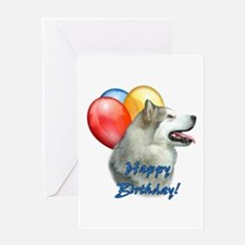 Malamute Balloon Greeting Card