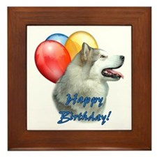 Malamute Balloon Framed Tile
