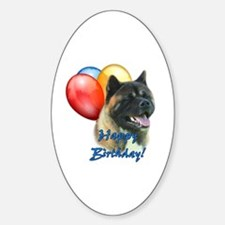 Akita Balloon Oval Decal