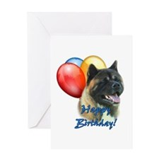 Akita Balloon Greeting Card