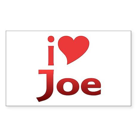 I Heart Joe Fan Rectangle Sticker