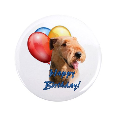 """Airedale Balloon 3.5"""" Button (100 pack)"""