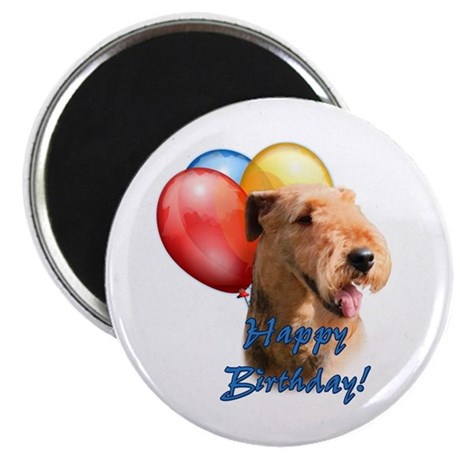 """Airedale Balloon 2.25"""" Magnet (10 pack)"""