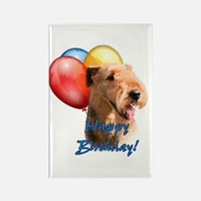 Airedale Balloon Rectangle Magnet (10 pack)