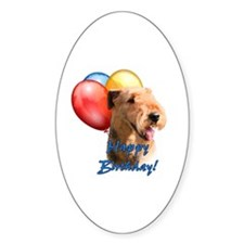 Airedale Balloon Oval Decal
