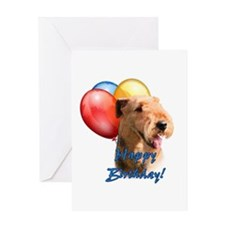 Airedale Balloon Greeting Card