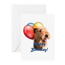 Airedale Balloon Greeting Cards (Pk of 20)