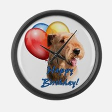 Airedale Balloon Large Wall Clock