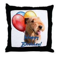 Airedale Balloon Throw Pillow