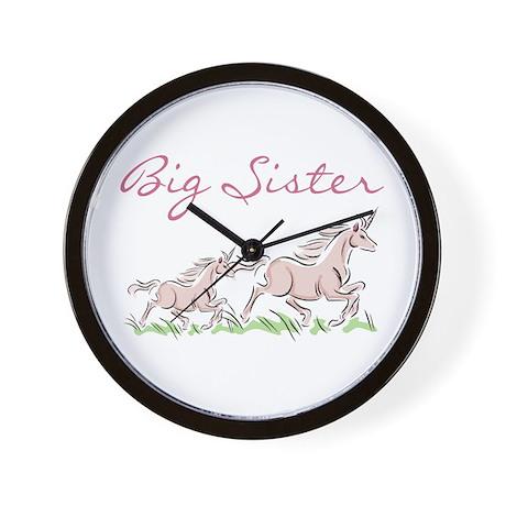 Unicorn Big Sister Wall Clock