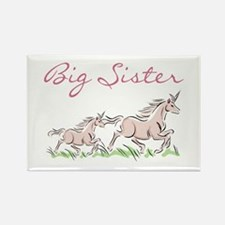 Unicorn Big Sister Rectangle Magnet