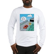 Odd Road Sign Long Sleeve T-Shirt