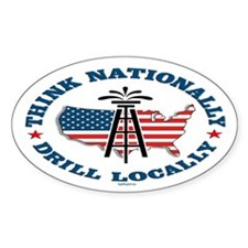 Drill Locally Oval Decal