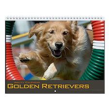 Golden Retriever Agility Wall Calendar