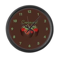 Chocolate Lovers Large Wall Clock