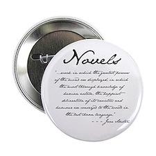 "Jane Austen on Novels 2.25"" Button (100 pack)"