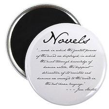 """Jane Austen on Novels 2.25"""" Magnet (10 pack)"""