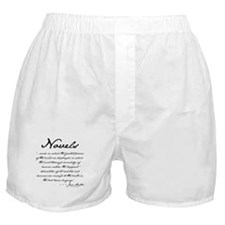 Jane Austen on Novels Boxer Shorts