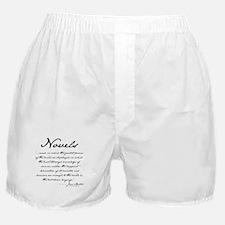 Jane Austen on Novels Boxer Shorts