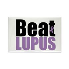 Lupus Warrior Rectangle Magnet (10 pack)