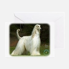 Afghan Hound 9J32D-21 Greeting Card
