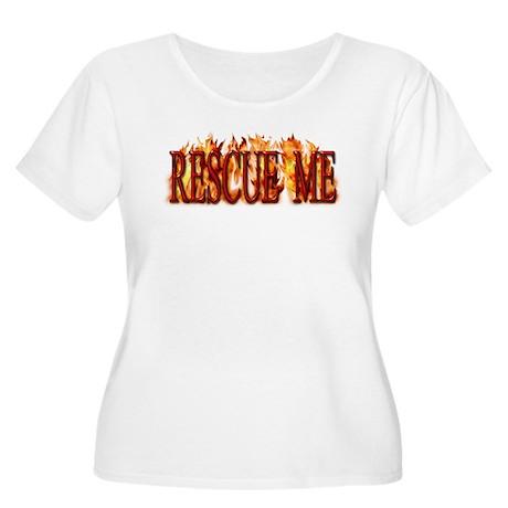 Rescue Me Women's Plus Size Scoop Neck T-Shirt