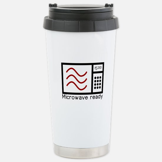 Microwave Ready Stainless Steel Travel Mug