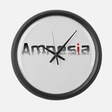 Amnesia Large Wall Clock