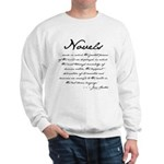 Jane Austen on Novels Sweatshirt