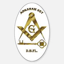 International Masons Oval Decal