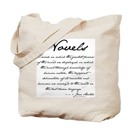 Jane Austen on Novels Tote Bag