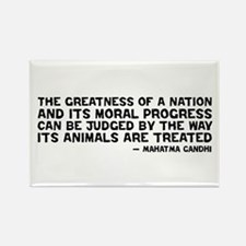 Quote - Greatness - Gandhi Rectangle Magnet (10 pa
