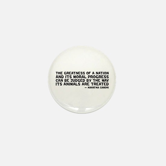 Quote - Greatness - Gandhi Mini Button (10 pack)