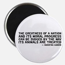 Quote - Greatness - Gandhi Magnet