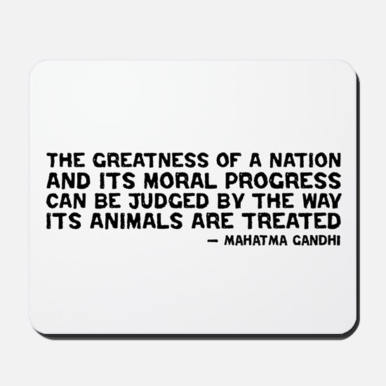 Quote - Greatness - Gandhi Mousepad