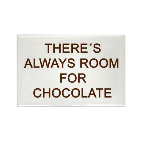 Always Room for Chocolate! txt Rectangle Magnet (1