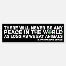 Never Be Peace - Rough Text Bumper Car Car Sticker