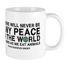 Never Be Peace - Rough Text Mug