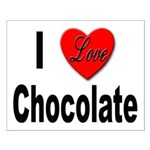 I Love Chocolate Small Poster